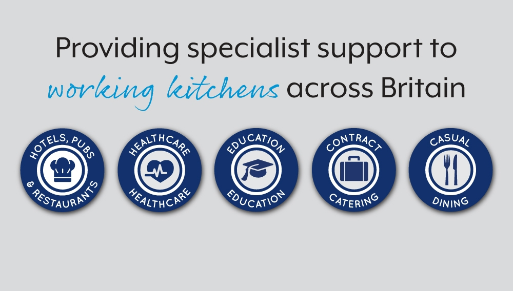 Providing specialist support to working kitchens across Britain:  Hotels, pubs & restaurants. Heathcare Education Contract Catering
