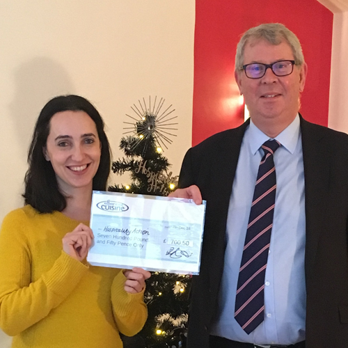 Essential Cuisine Rings in the Festive Season with £700 Charity Donation