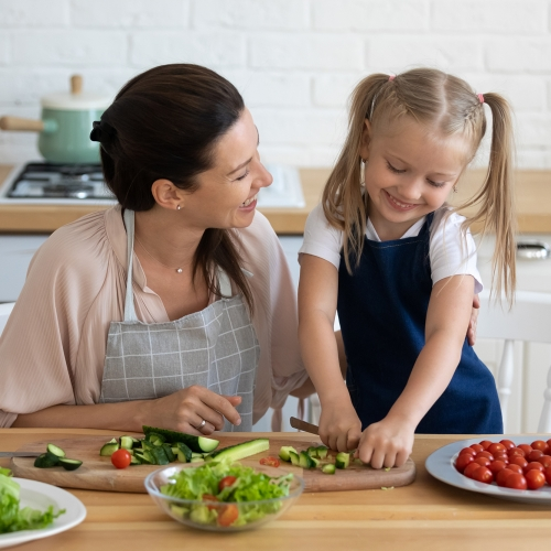 Tie up home schooling with sensory food skills