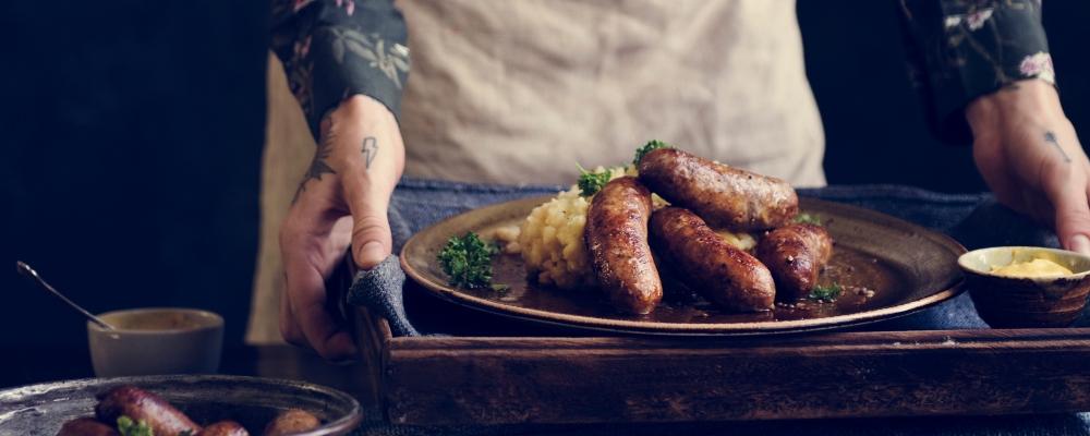 4. Sausage and mash