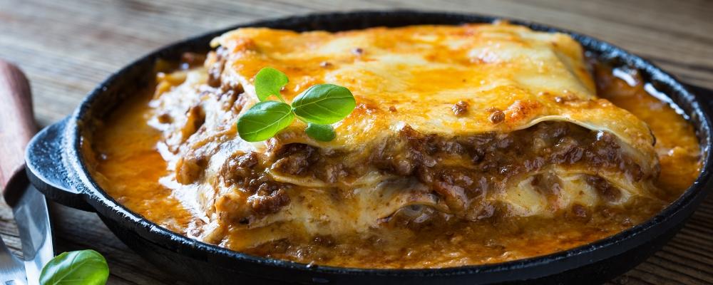 6. Rich beef lasagne