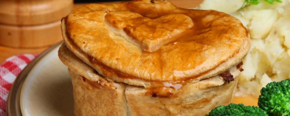 7. Chicken, ham and leek pie