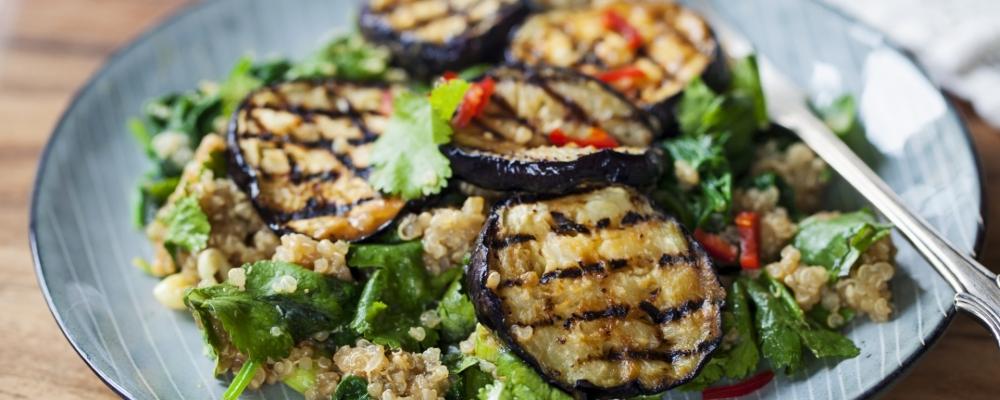 10. Charred aubergine Mexican salad