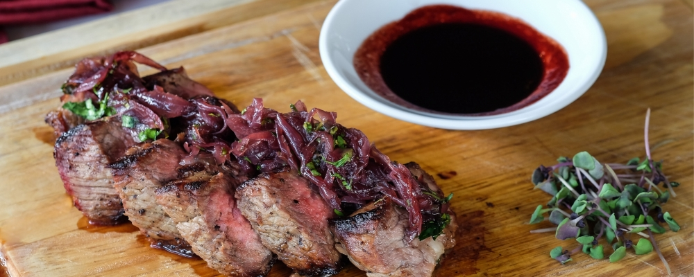 Beef Horseradish and Beetroot Drizzle