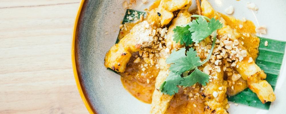 Chicken Satay in Peanut Sauce