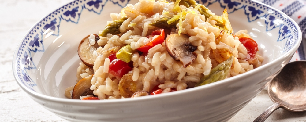 Wild Mushroom and Asparagus Risotto