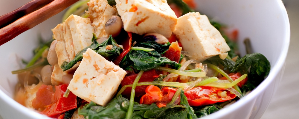 Thai Noodle Salad with Fried Tofu