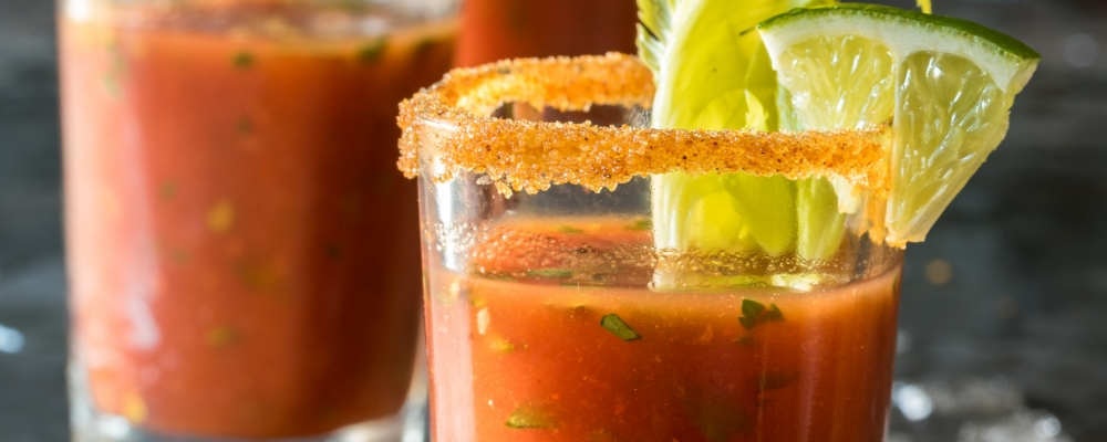 Bloody Mary Soup Shots