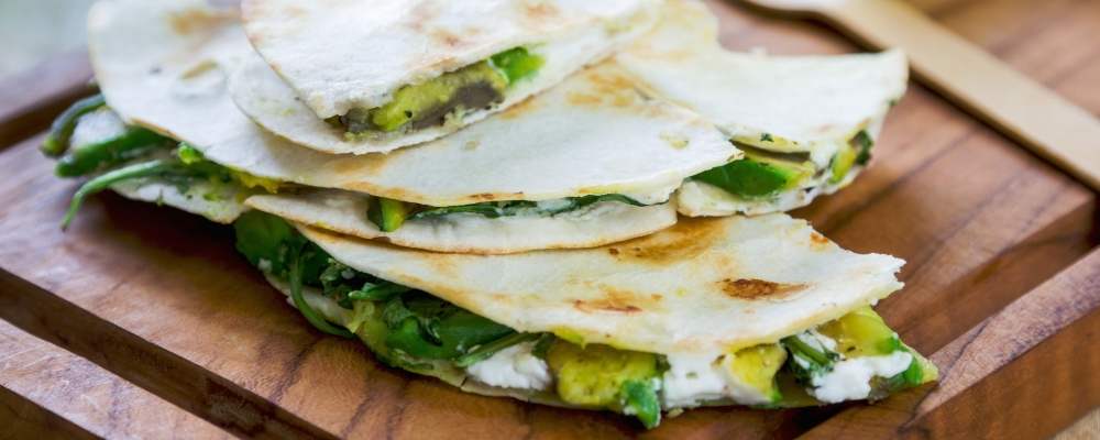 Spinach and Goats Cheese Quesadillas