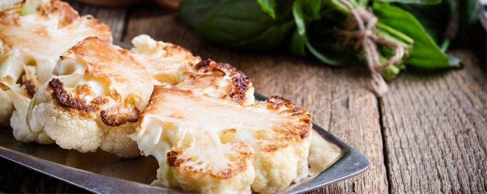Basil Cauliflower Steaks