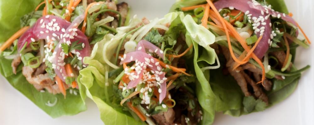 Korean Pork Lettuce Wraps