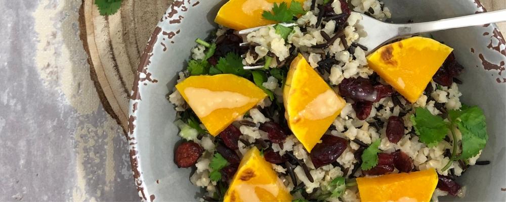 Black and White Rice, Butternut Squash Salad