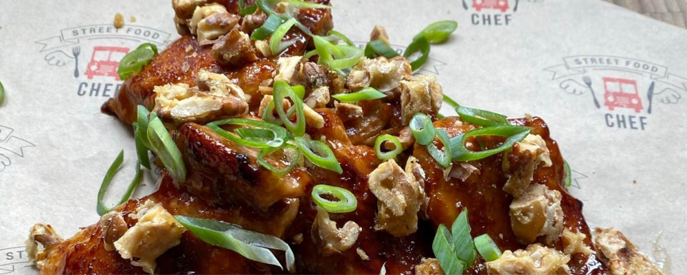 Roasted Garlic and Miso Glazed Chicken Thighs