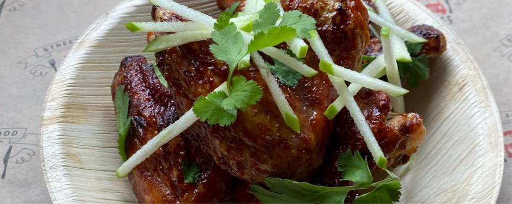 Miso Caramel Chicken Wings