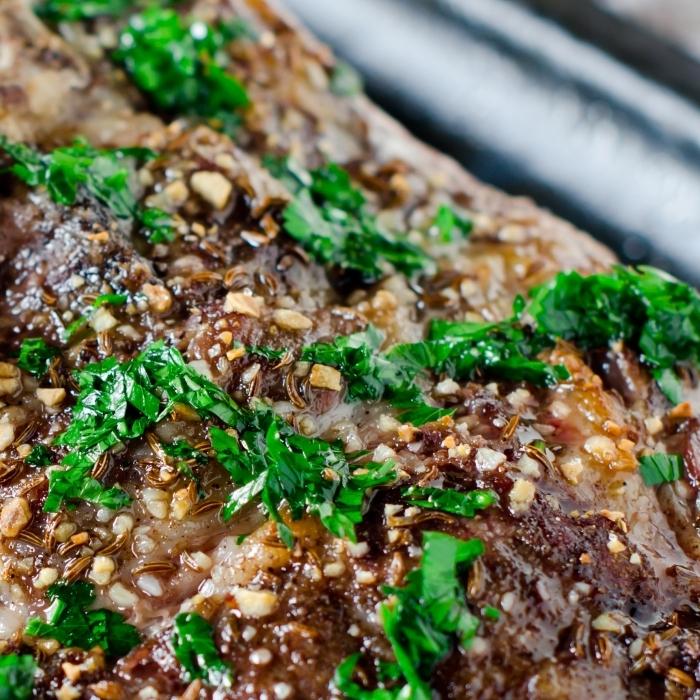 BBQ Lamb Neck Salad
