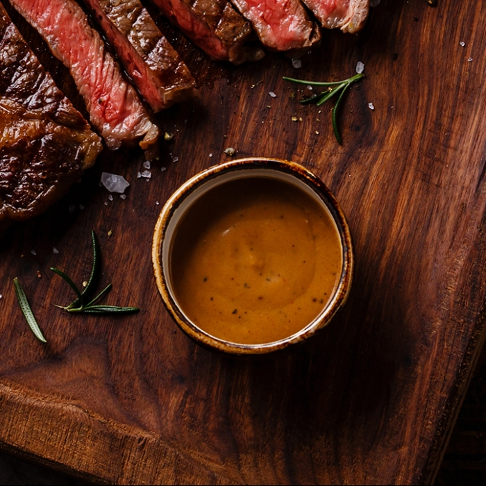 Beef and Peppercorn Sauce