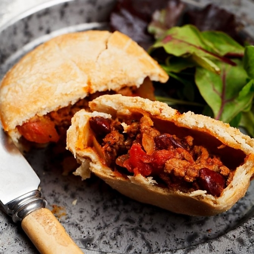 Beef, Bacon and Bean Pie