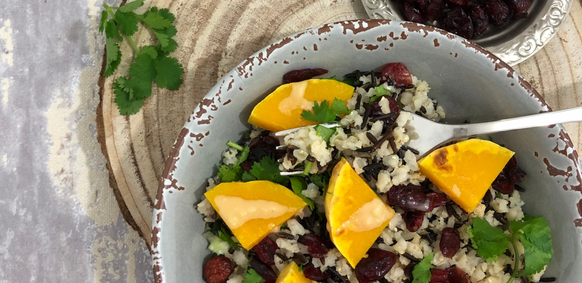 Black and White Rice, Butternut Squash Salad