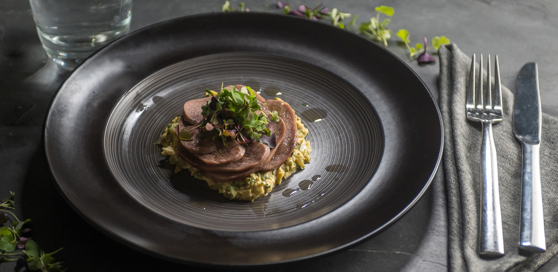 Braised Ox Tongue with Sauce Gribiche