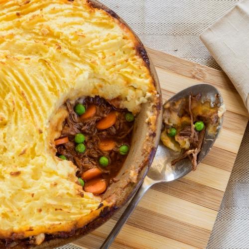 Braised Pulled Beef Cottage Pie
