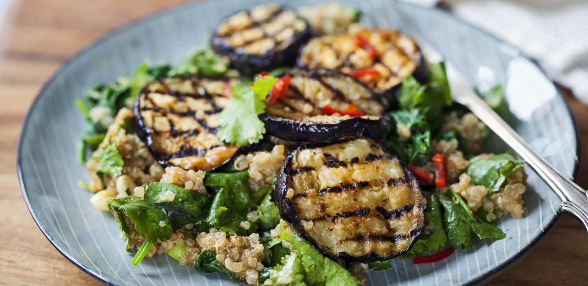 Charred Aubergine Mexican Salad