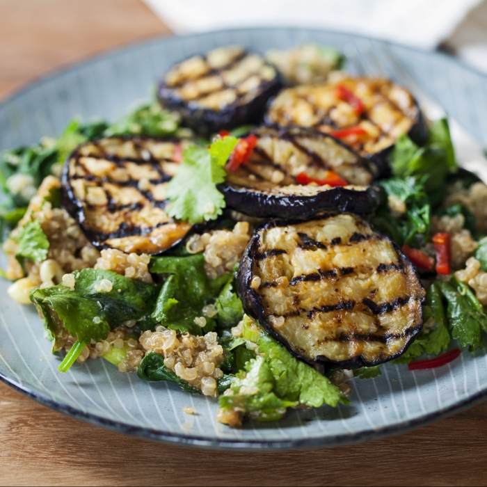 Charred Aubergine Mexican Salad