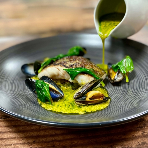 Cod, Mussels and Lobster Sauce
