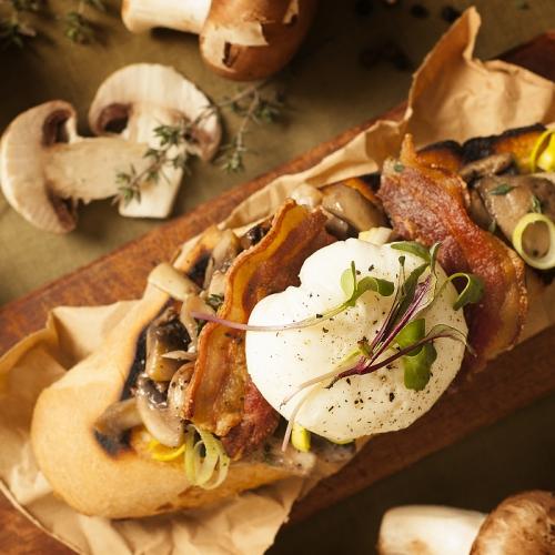 Creamed Portobello Mushrooms on Brioche