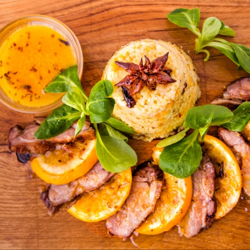 Grilled Duck Breast with Orange Soy Glaze