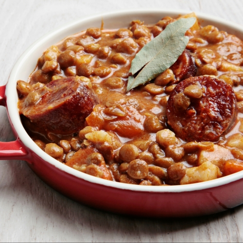 Lentil and Chorizo Stew