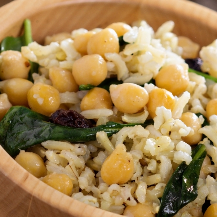 Moroccan Chickpea Brown Rice Salad