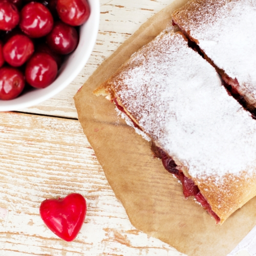 Red Berry and Custard Strudel