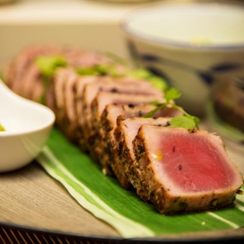 Seared Teriyaki Tuna, Wasabi Tartare Sauce