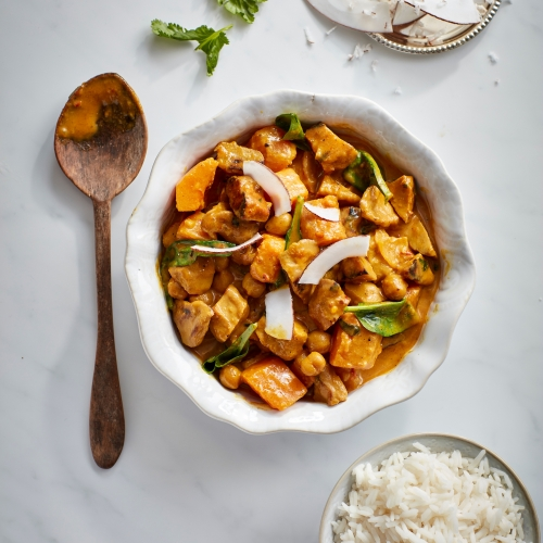 Sri Lankan Curry with Sticky Rice