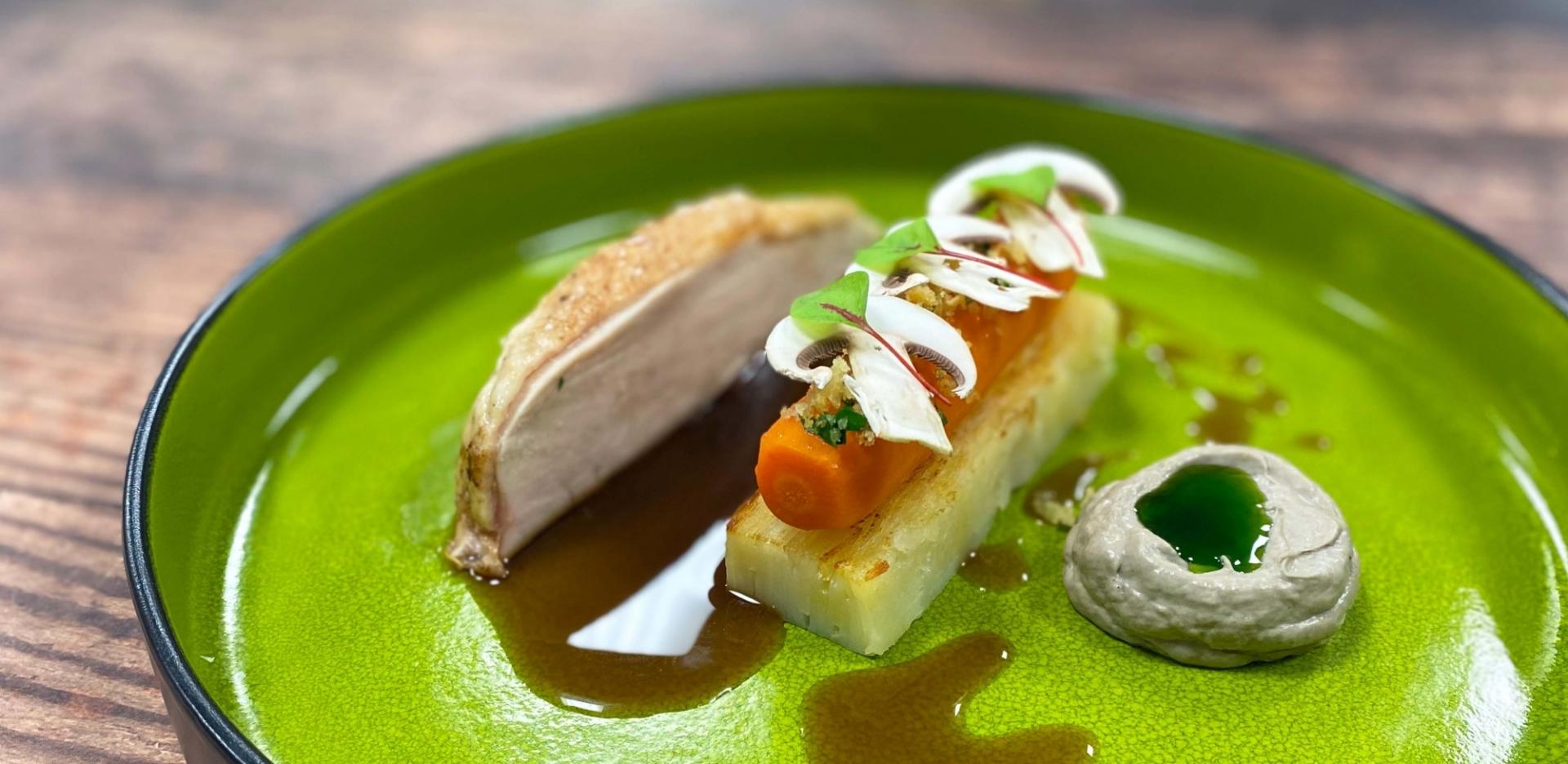 Sutton Hoo Chicken, Potato, Mushroom and Carrot