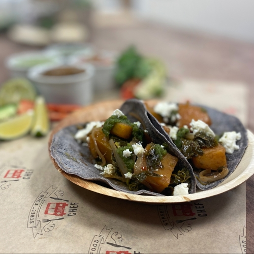 Swede Tacos with Greens and Roasted Feta