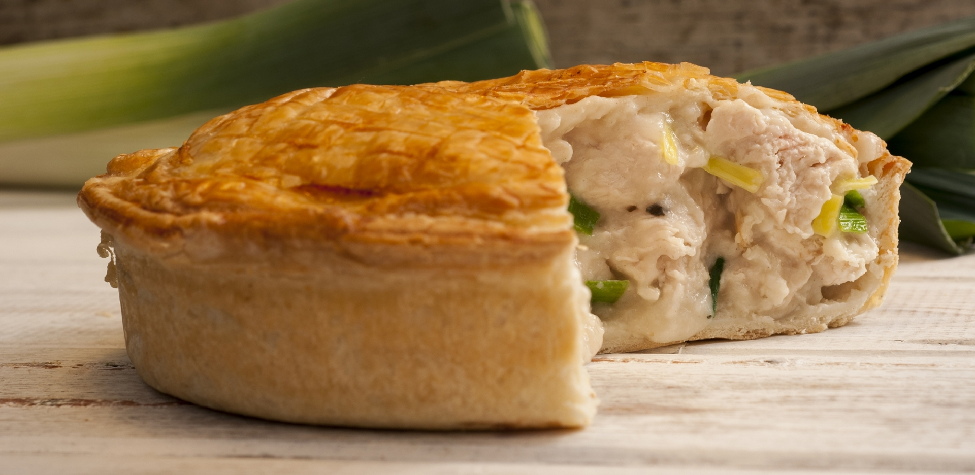 Turkey, Ham, Leek and Mushroom Pie